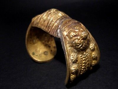 FASCINATING 1800 – 1900's. ANTIQUE FERTILITY BRONZE BRACELET 4