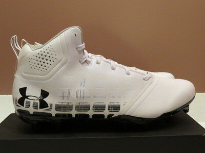 6097b3bb2596 ... Under Armour Men's Banshee Ripshot MC Lacrosse cleat Brand New  White/blk size 11 5
