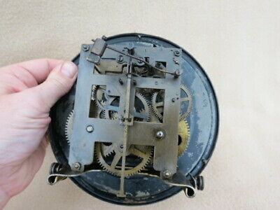 Antique German Striking Regulator Wall Clock For Restoration 9