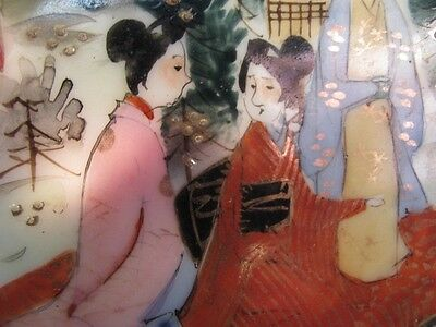 Antique Japan Nippon Geisha BOWL Kutani Bibi gilt moriage ALL hand painted 3
