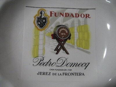 Antiguo Cenicero De Porcelana. Brandy Fundador. Pedro Domecq. Jerez 2