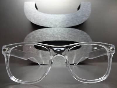 246a2bb012c ... Men s Women VINTAGE RETRO Style Clear Lens EYE GLASSES Transparent  Crystal Frame 4