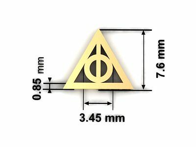 577447241 ... Deathly Hallows Harry Potter Movie 925 Sterling Silver Stud Earring 18k  G-Plated 3