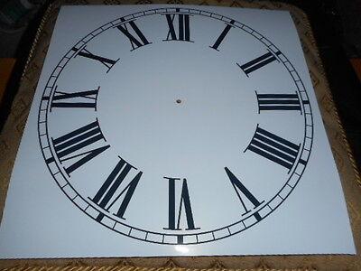 "Large Paper Clock Dial - 11 1/4"" M/T - Roman - Gloss White - Face/ Clock Parts 2"