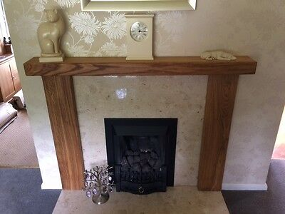 Fire Surround, solid rustic oak beam, MADE TO MEASURE oak fireplace surround 2