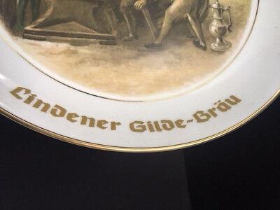 Lindener Gilde-Bräu Hannover Wandteller Porzellan Schwarzhammer Bavaria 2
