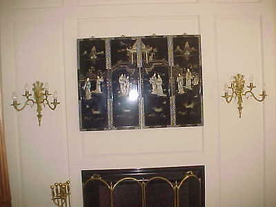 "Wall Sconces Antique 4 Light Brass Rewired 19"" High 19"" Wide (Lot Of 2) 2"
