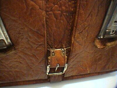 1717/  Leder Aktentasche Tasche Antik Vintage Accessoires 10
