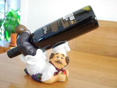 Resin Funny Chef Tabletop Wine Bottle Holder Home Decor Ornament D