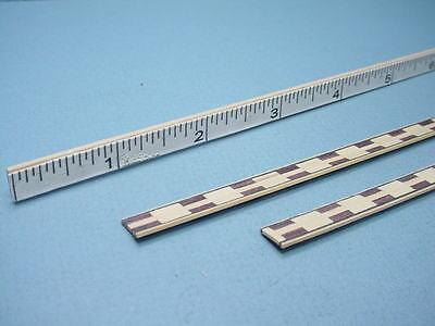 "2 Dollhouse Miniature Wood Inlay Border Strips 18/"" Length #MM349 Mini-Magic"