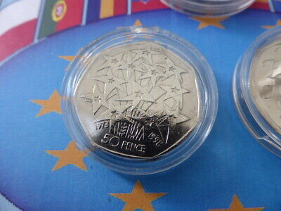 2020 Brexit 50p uncirculated Coin,1973 50p circulated coin & circulated 1998 50p 4