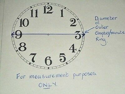 """For French/German Clocks-Paper Clock Dial-3 1/4"""" M/T-Roman-Clock Parts/Spares"""