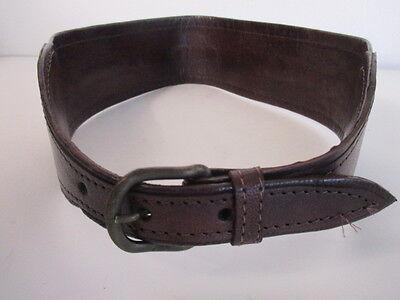 DANNIJO  Red Crochet Brown leather Morocco Waist Belt Sz 32.5 Long 5