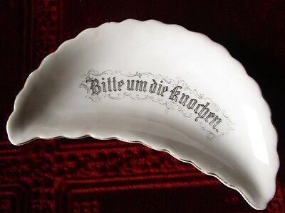 um 1880 - 5 KNOCHEN Schalen zum Gedeck VORLEGESCHALE : Bitte um die Knochen 2