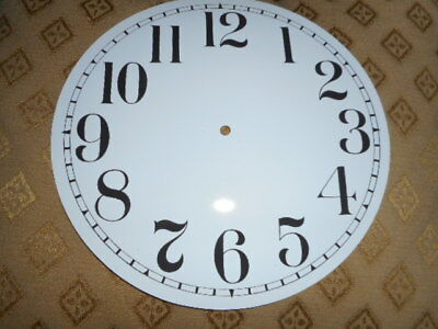 """Round Paper Clock Dial - 8"""" M/T - Arabic - Gloss White - Face/Clock Parts/Spares"""