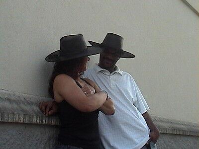 ... Joe Kidd High Plains Drifter Clint Eastwood Leather Hat Wild West  Cowboy Hat 2 deb7a370682e