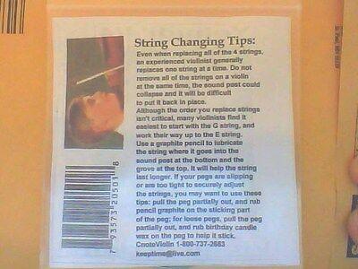 Yehudi Violin Strings 4/4 Set E,A,D,G German Silver Wound Ball Ends