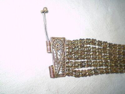 Old  RARE HANDMADE-ANTIQUE -BRACELET  filigree Handmade Bronze 3