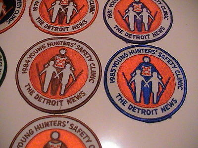 Lot /10 Detroit Michigan News 1977-1987 Youth Hunter Safety Gun Hunting Patches 6