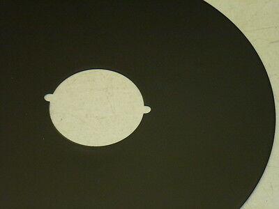 """VINTAGE 8"""" DIAMETER DOOR ESCUTCHEON, Finish: US19, MATTE BLACK 2"""