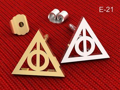 379fbd864 ... Deathly Hallows Harry Potter Movie 925 Sterling Silver Stud Earring 18k  G-Plated 2