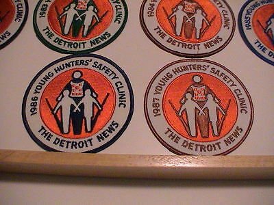 Lot /10 Detroit Michigan News 1977-1987 Youth Hunter Safety Gun Hunting Patches 7