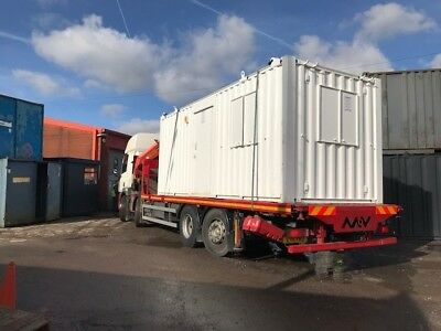 24ft x 9ft Anti Vandal Office Container - WHITE SECURE  Best Value