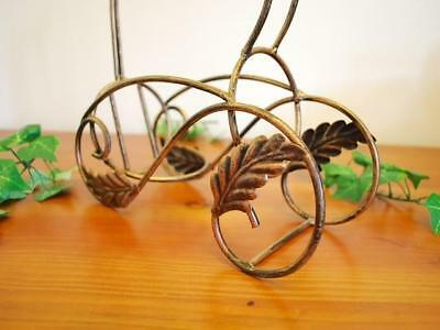 Wrought Iron French Vintage Table Wine Bottle Holder Rack
