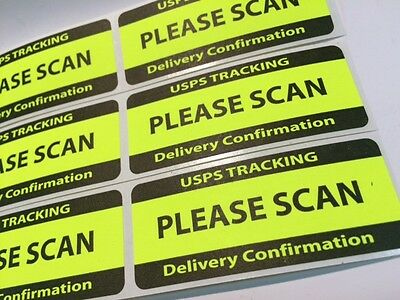 USPS TRACKING DELIVERY CONFIRMATION PLEASE SCAN Labels/Stickers 100 1 25 x  3 NEW