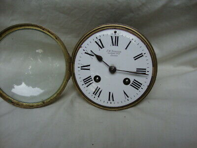 A  J. W. Benson Mahogany, Striking Mantel Clock. 2