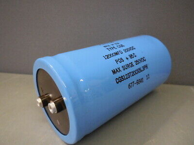 Aero M Capacitor 12000MFD 12000uF 200V POS 85C TYPE CGS CGS123T200X5L3PH
