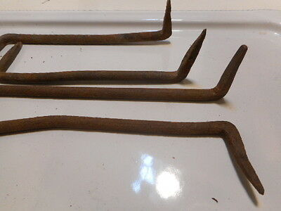 4 Hand Forged Iron Pennsylvania Barn Hardware Hooks Nut Screw Nail door hinge 3