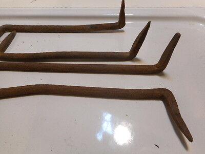 4 Hand Forged Iron Pennsylvania Barn Hardware Hooks Nut Screw Nail door hinge 3