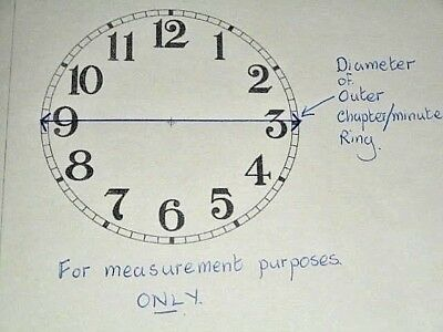 """Junghans Carriage Clock Paper (Card) Dial -1 3/4"""" (M/T)-High Gloss White -Parts 3"""