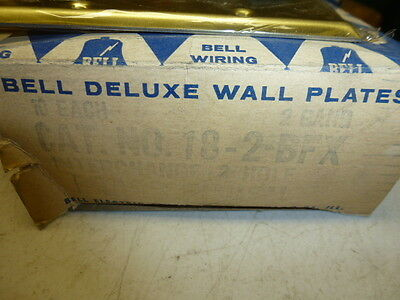 Nos! Bell Interchange 2-Gang Brass Finish Wall Plate, Horizontal, 18-2-Bfx