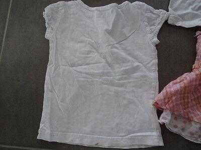 Ensemble jupe rose quadrillé KISS MELODY + Tunique & t-shirt blanc Taille 3 ans 7