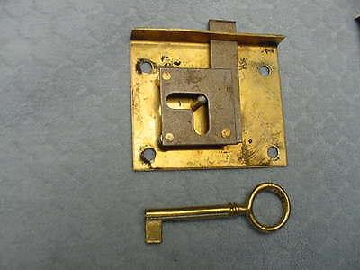 Brass Drawer Locks Polished Set of 5 Never Used Key Furniture 2