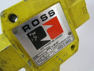 """Ross 1523-C-6002 LOX Lockout Exhaust Valve 1-3/2"""" In/Out 300PSIG 20.7BAR  USED 3"""