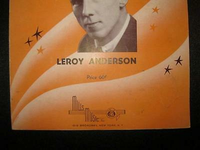 FIDDLE FADDLE SHEET Music Vintage 1947 Leroy Anderson Piano Solo Mills  Music (O)