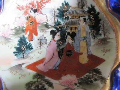 Antique Japan Nippon Geisha BOWL Kutani Bibi gilt moriage ALL hand painted 5