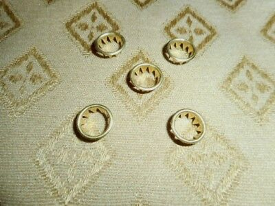 5 x Clock Dial Keyhole Grommets - 10mm - Solid Brass - Faces /Clock Parts/Spares