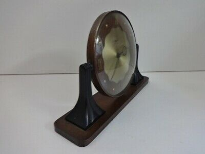 Vintage Smiths Sectric Art Deco Bakelite wood mantel clock (spares and repairs) 6