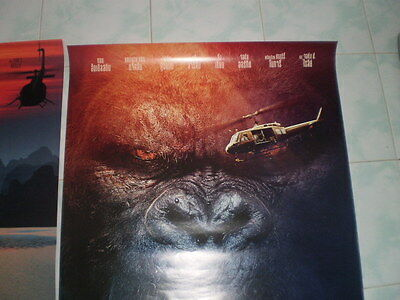 Kong Skull Movie Island Poster 27x40 Original Theater 2017 S D Sided Exclusive 8