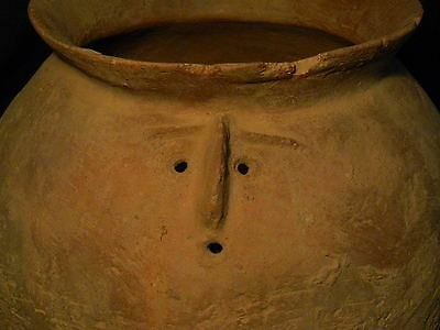 Ancient Huge Size Teracotta Anthropomorphic Funerary Pot Indus Valley 1500 BC 2