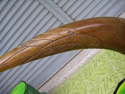 Wall Mounted Clothes Coat Hat Rack Hanging Hook Thai Buffalo Horn Rack Vintage 8