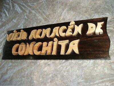 LETRERO de madera personalizado, ROTULACIÓN artesanal 4