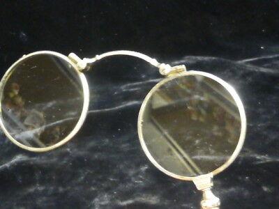 antik französisch silber Lorgnette / Oper Brille mit Zentrum Riegel zum Öffnen