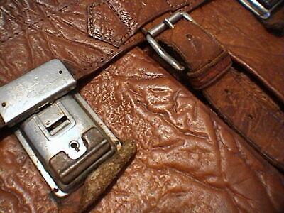 1717/  Leder Aktentasche Tasche Antik Vintage Accessoires 2