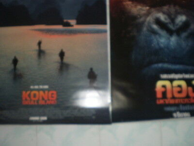 Kong Skull Movie Island Poster 27x40 Original Theater 2017 S D Sided Exclusive 4