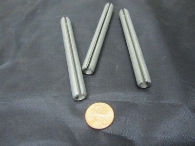 """Zinc Plate Steel Slotted Roll Spring Pin, 3/8"""" Dia x 3 1/2"""" Length, 20 pcs 9"""